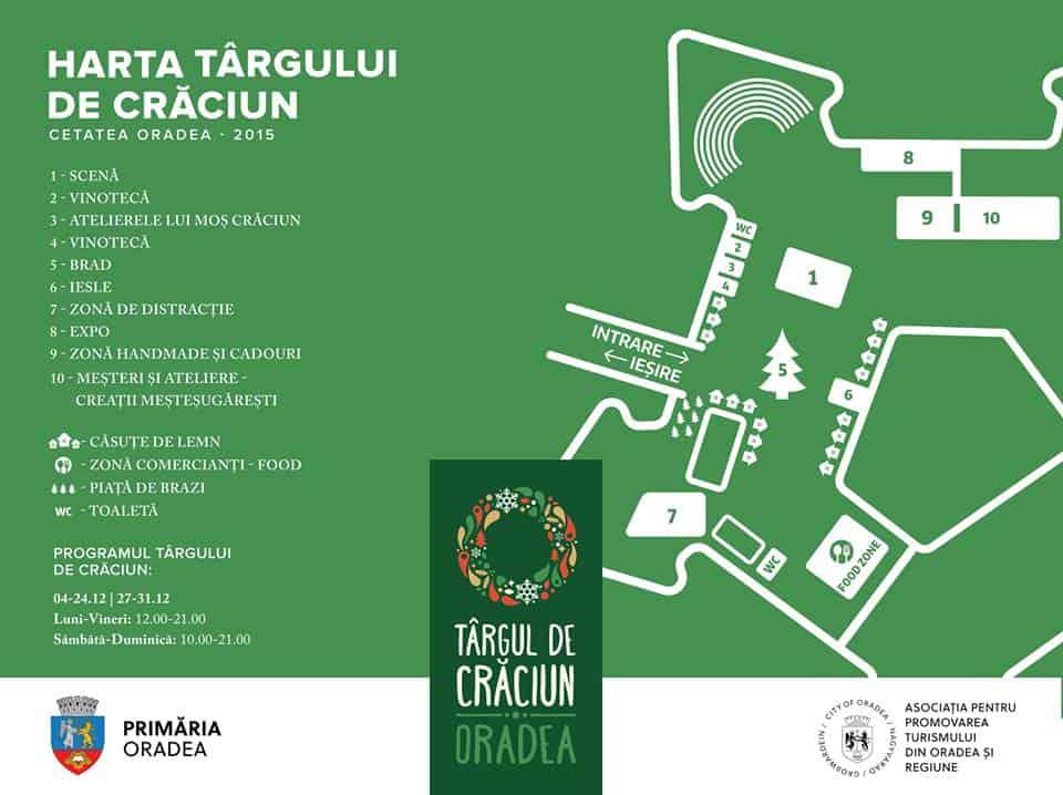 Harta Targul de Craciun Oradea 2015